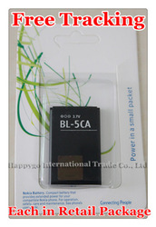 Free Tracking New Original BL-5CA Mobile Phone Battery for Nokia 6230 6600 3100 N70 N71 N91 E60 6270(China (Mainland))