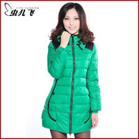 Women's 2013 winter slim medium-long down coat female