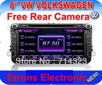 "Free Camera 8 "" HD Car DVD Player GPS for VW GOLF 5 6 POLO PASSAT JETTA TIGUAN TOURAN EOS SHARAN SCIROCCO TRANSPORTER (T5) CADDY"