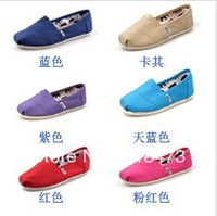 wholesale children's boy / girl comfortable canvas shoes,7 kinds of color(20 pair/lots)Free shipping