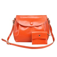 Autumn women's handbag fashion vintage wax cowhide messenger bag cowhide women's handbag