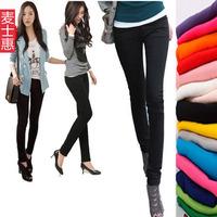 2013 spring basic elastic slim soft cotton pants plus size trousers pencil pants