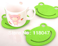 Free shipping  Frog potholder Coffee Pad Cup Mat  Dinner Mat Bowl Pad Heat-Proof Coaster