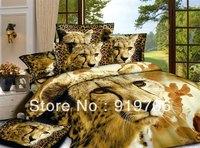 2013 New Beautiful 100% Cotton 4pc Doona Duvet QUILT Cover Sheet Set bedding sets Full Queen King 4pcs animal lion leopard