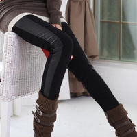 2013 spring women's skinny pants pencil pants plus velvet thickening PU boot cut jeans legging