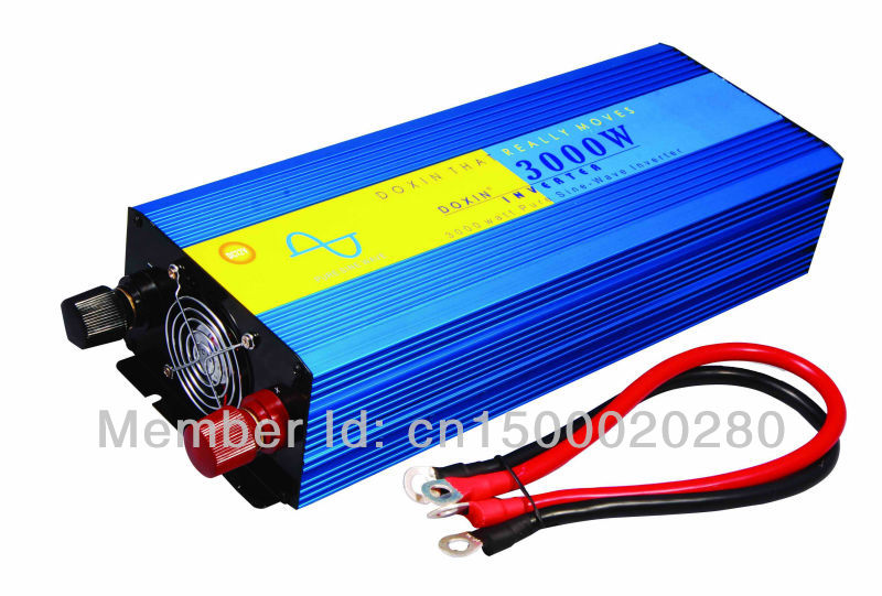 3000W/6000W Off Grid Inverter for solar panel, dc to ac Pure sine wave Power Inverter 12V 220V(China (Mainland))