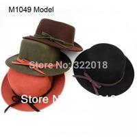 Wholesale Mix Colors Top Hats Women Fedora Cap Womens Wool Winter Cloche Bowler Ladies Bucket Hat Lady Derby Cloches Dress Hat