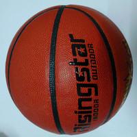 Free shipping Size7 PU basketball brand rising star basketball outdoor/indoor basketball free with pump, pin and net bag