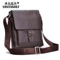 Discover golf messenger bag male backpack cowhide man bag shoulder bag casual bag man as031-01