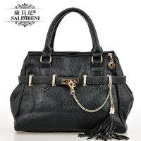 Spring new arrival fashion women's one shoulder handbag chain tassel female bag messenger bag