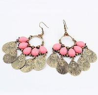 Min. order is $10(mix)  171 retro exaggerated ethnic earring fashion earrings wholesale jewelry 2013