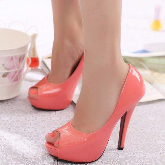 Hot-selling 2013 candy color sweet fashion open toe single shoes milan 803(China (Mainland))