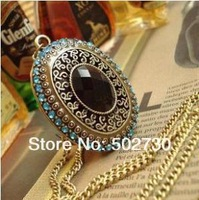 Free Shipping 2013 New Korean Jewelry Long Sweater Turquoise Necklace Z-A5021