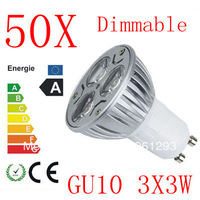 50pcs CREE LED GU10 6W 9W 3x3W High power Spot Light Bulb Spotlight spot lamp Downlight