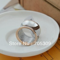 Free shipping! Wholesale rose gold  plated titanium steel Ring good price good quality  HR008R