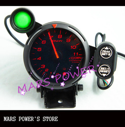 "3.75""/80mm DEFI styel RED LED auto meter tachometer/auto gauge/car meter/black or white face(China (Mainland))"
