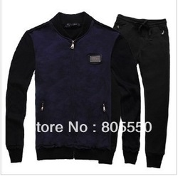 2013 new style men's sport suits fashion leisure sets brand suits free shipping(China (Mainland))