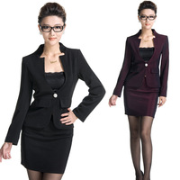 K883 work wear women's set skirt long-sleeve stewardess uniforms work wear autumn and winter