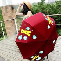 newest door shipping Infun water rabbit color umbrella sun-shading anti-uv umbrella /Discoloration umbrella