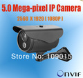 Megapixel HD Digital Waterproof 5 Megapixel Network romote view outdoor Bullet IP Camera POE high definition IP camera