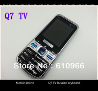 Q7 TV Mobile Phone Unlocked GSM Quad Band Dual SIM with Russian / Polish language free shipping