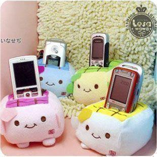 Free Shipping Min.order is $12 Adorn article &wholesale 12pcs 4color Popular bean curd lovely creative Mobile phone seat cushion(China (Mainland))
