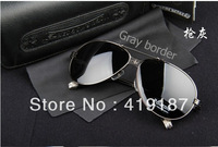 Free shipping Fashion gray border Sunglasses Mens Sunglasses designer the Sun glasses gray lens MS-106