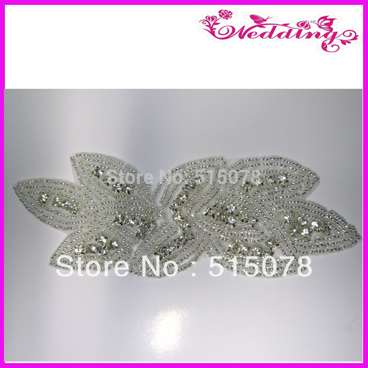 2013 New Arrive Hand Beaded Glass Rhinestone Crystal Sashes Applique Trimmings(China (Mainland))