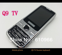 Q9 TV Mobile Phone Unlocked GSM Quad Band Dual SIM with Russian(Russian Keyboard)Polish language free shipping