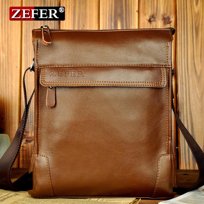 New Arrival man bag fashion male casual shoulder bag , men's leather bag business briefcase, fashion brown vintage shoulder bag(China (Mainland))