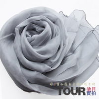 Silk scarf silk fashion ultra long paragraph mulberry silk scarf female cape