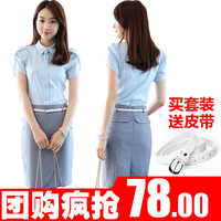 2013 spring work wear women's skirt fashion work wear set female