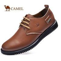 Autumn and winter camel men's male genuine leather casual shoes the loggerhead leather the first layer of leather shoes single