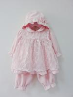 new arrival 2013 children dress chirstening new born dress girls dress pants baby dress formal 4 sets hats free shipping C13