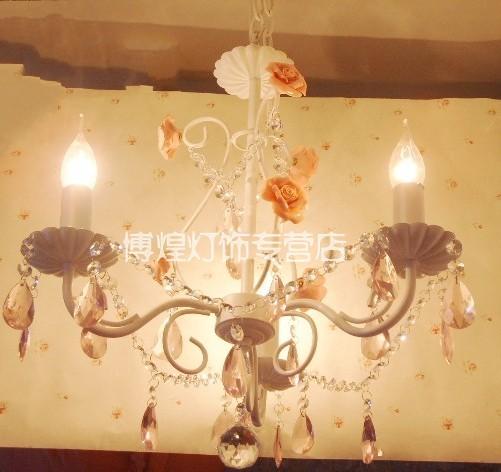 Pendant light crystal pendant light dining room wrought iron pendant light rustic lamp(China (Mainland))