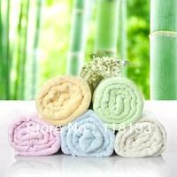 Free shipping wholesale GOOLEKIDS 100% bamboo fiber baby wash towel kids washcloth 30x66cm Natural & Eco-friendly 2 solid colors