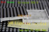 LED Display Dot Matrix Red Green Bi color 5mm 8x8 60.2x60.2mm PCB D free shipping