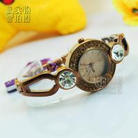 Aoyi diamond antique bracelet ladies watch