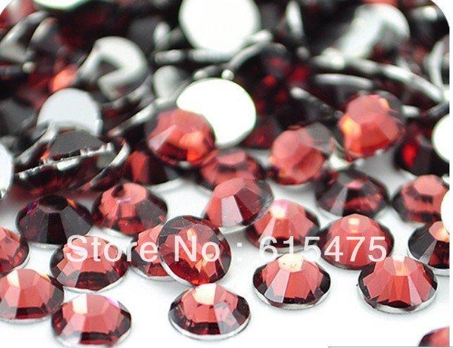 2 мм Красный кофе Цвет SS6 кристалл Смола стразами flatback, Бесплатная Доставка 100,000 шт./пакет