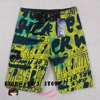 FREE SHIPPING Men Boy Boardshorts Beach wear Swim Pants Swimwear Surf Board Shorts Quick Dry Polyester yellow 9123