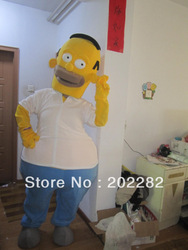 Premium Quality Homer Simpsons Mascot Costume Homer Mascot Costume Free Shipping(China (Mainland))
