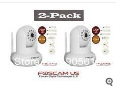 2pack FI9821W Foscam camera HD H.264 Wireless IP Web Security Camera IR 1280*720 HD White