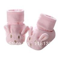 Free shipping wholesale GOOLEKIDS 2013 cute rabbit newborn baby shoes for autumn and winter Velvet + 100% cotton Infant shoes