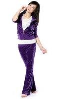 Newly arrived ,Velor track suit , velvet suit leisure suit (8 colors ) free shipping
