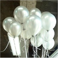 "100 PCS Birthday Wedding Party Decor Thicking Latex Balloons  White Color 12"" 12 inch H001-90"