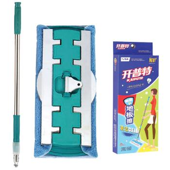 Fiber flat mop stainless steel clip cloth mop wood floor mop