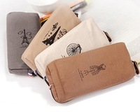 2837 brief the large capacity canvas pencil case memory storage bag series