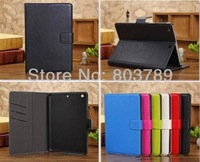 Fashion PU leather pouch smart case for ipad mini, retail and wholesale,free shipping