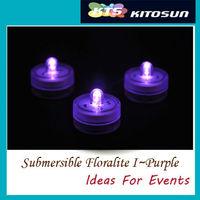 50LEDs Purple Submersible Centerpiece Wedding submersible led tea lights