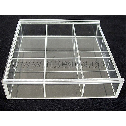 Plastic Beads Storage Container, 12x18x3.5cm(China (Mainland))